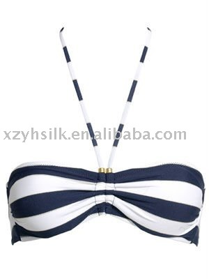 bandeau bikini top with beads details 2011swimwear