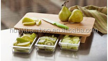 """ Totally natural bamboo chopping boards with food drawer """