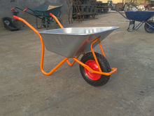 high quality galvanize or powder coating industrial or concrete wheelbarrow