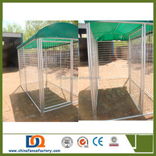 Outdoor cheap welded wire large dog kennel with covers of waterproof cloth