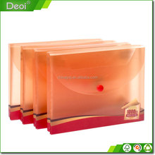 Customized Colorful Clear Hard A4 Plastic File Box