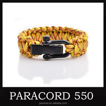 Outdoor Camping camo paracord Survival Bracelet Accessories