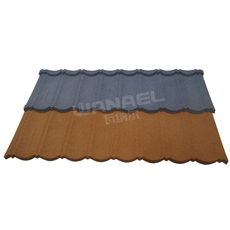 Wanael 1340x420mm Bond stone chips coated aluminium composite roof panels deck roof