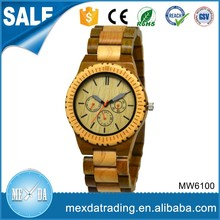 2016 new design fashion custom dial japan movt all wood watch