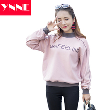 2017 Winter Autumn Fashion High Quality Top Stitch Crewneck Streetwear Printed Pullover Women Sweatshirt