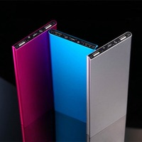 Fashion ultra thin 10000mah power bank for mobile phone accessories