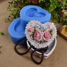 Nicole Wholesale R1623 Flexible 3D Jewellery Box Resin,Clay Crafts Silicone Molds DIY Soap Crafts Mould