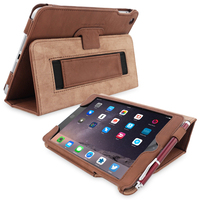 Snugg case for iPad mini 3 Case in Distressed Brown Leather