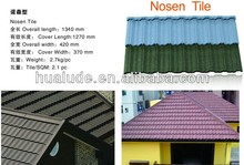 Colorful Stone Coated Metal Roof Tile Nosen Tile for House Construction
