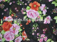 100%cotton voile flower print fabric for ladies dress tprint cotton voile fabric