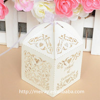 Gifts and crafts bomboniere wedding boxes customized laser cut favor box