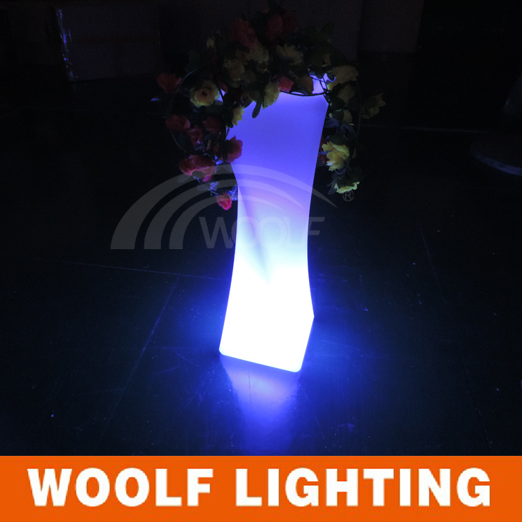 modern design plastic led decorative vases