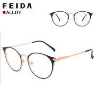 2019 Hot Sales 23008 Designer Spectacle Frame Reading Eye Glasses Metal Round Frame in stock