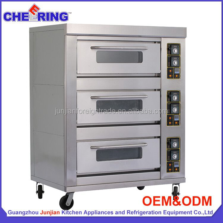 3 deck 9 trays luxury industrial gas oven bakery equipment baking bread oven competitive gas oven price G39B