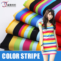 High quality color stripe 40s*40s poplin 100% cotton wholesale clothing fabric