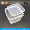 pp raw material disposable square plastic food container