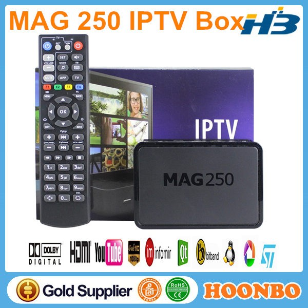 Linux System TV Box With Indian Turkish Channel IPTV Box IP TV MAG250