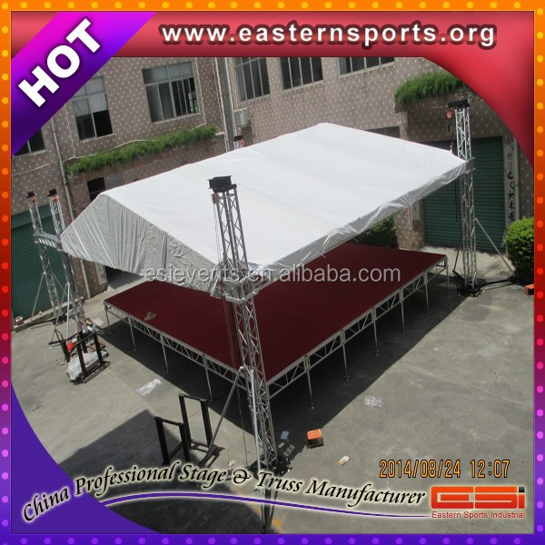 ESI special offer concert equipment non slip stage canopy for outdoor concert event