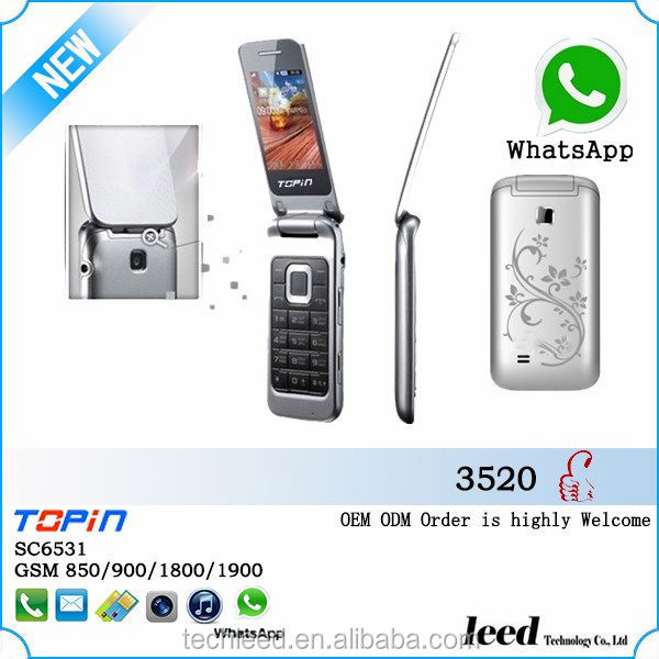 high quality cell phone H3520 flip mobile phone wifi cell phone telefon