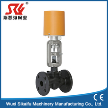 AC220V motorized 3 way thermal oil control valves