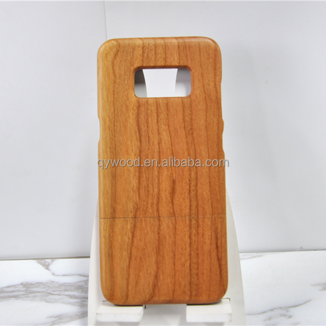 Protective unique design chic pure wooden case for Samsung Galaxy S8 wood phone accessories