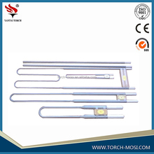 high temperature special u shape mosi2 heating element and mosi concetion