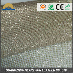 hot selling new shoes glitter fabric/ pu base glitter fabric leather pp non-woven backing