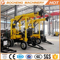 Power head type china trailer used drilling rig with normal-reverse circulation