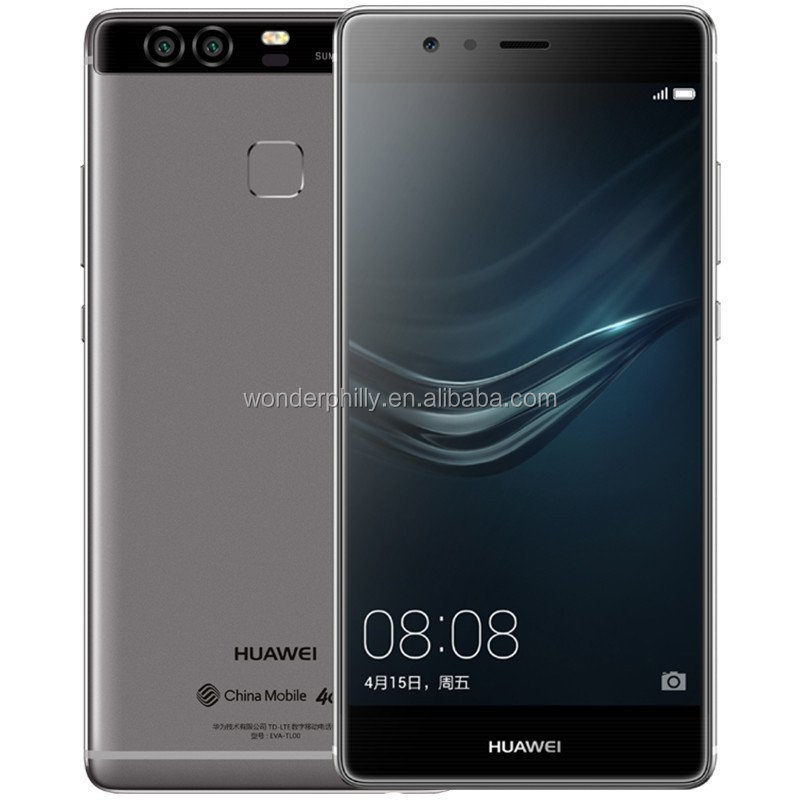 Huawei high end smart phone P9 Dual Leica 12 MP Lens 5.2 inch FHD display 2.5 glass, Aluminium Android 6.0 Mobile phone
