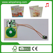 Light Sensor Greeting Card Music Chip / Light Sensor Activated Sound Module For Greeting Card