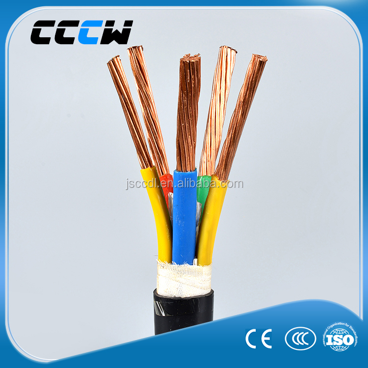 Industrial XLPE sheath five copper core 25mm2 power cable