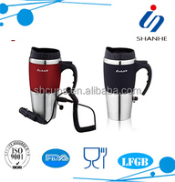 SH505 stainless steel electric coffee mugs for car