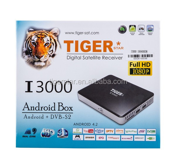 Tiger I3000 Download hd 1080p video with 1 year IPTV