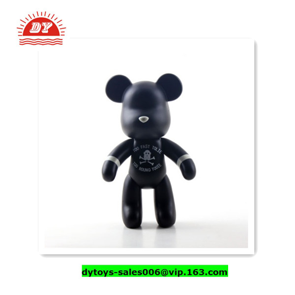 ICTI FACTORY 3d OEM blank action figure,bear brick,movable action figure