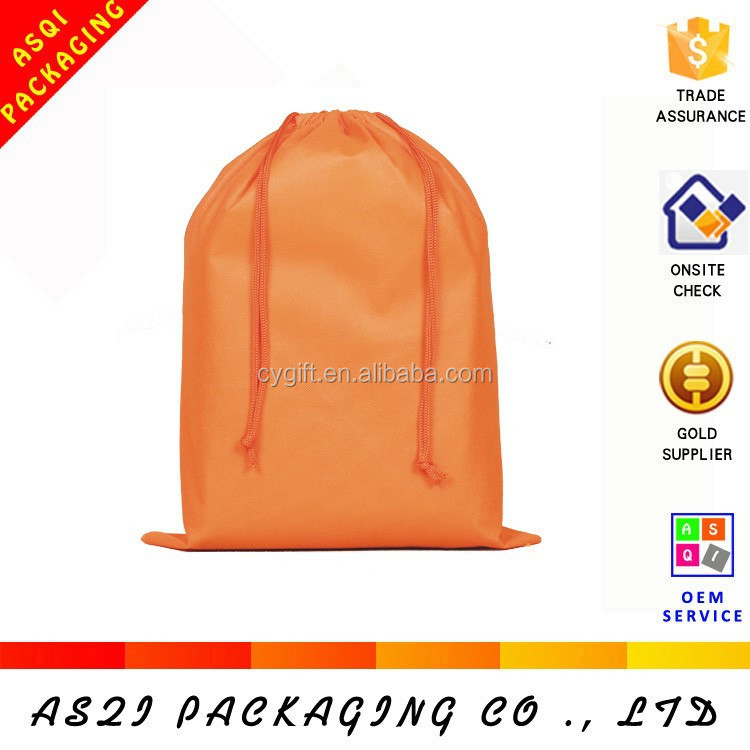 30*40cm fabric printable traval drawstring shoe bag with best material