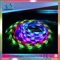 2016 China factory price wholesale waterproof IP65 full color 5050 12v led strip 60 leds