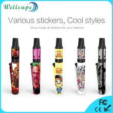 Newest strong vapor subohm ecig Kamry Lighter skull e-cigarette
