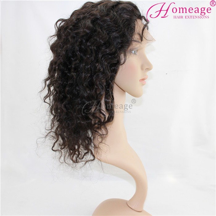 homeage full cuticles 100% raw remy malaysian hair virgin lace front wig