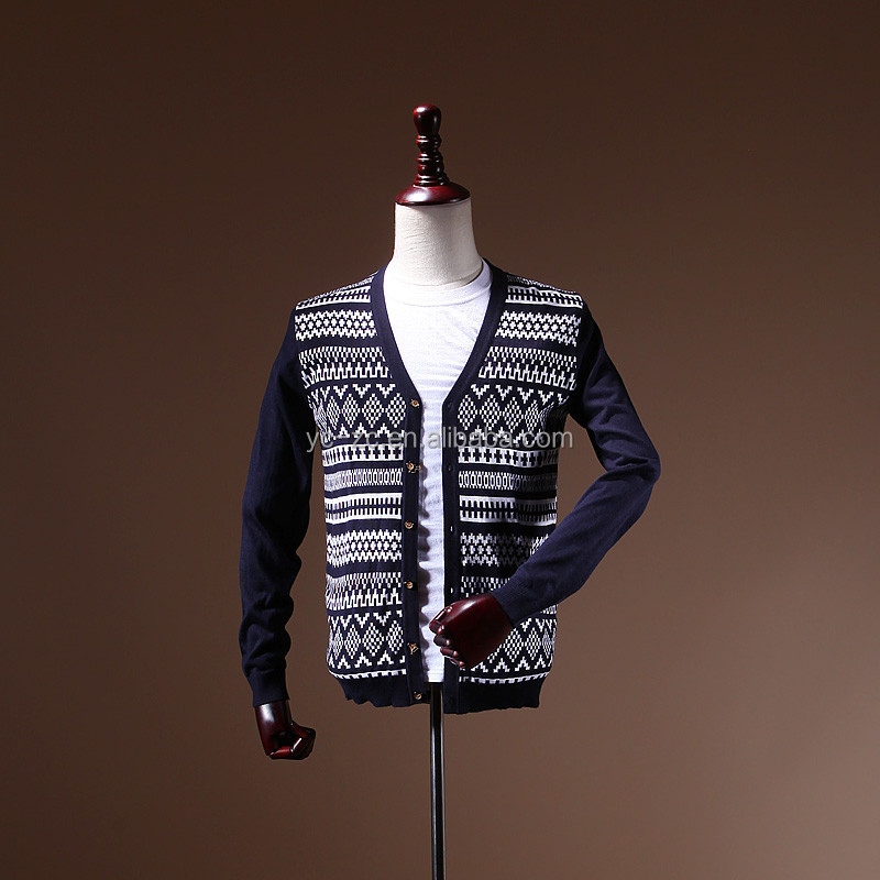 ODM Fashion Garment Stripped Man Sweater cardigan