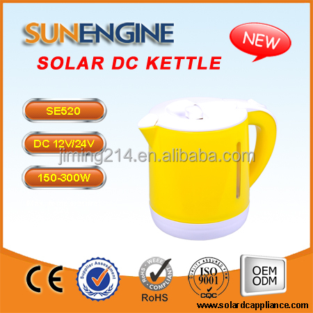 SE520: 2016 NEW CAR AUTO 12V 24V battery powered kettle 150-500W 1.0L -Auto stop once water boiled 160423B
