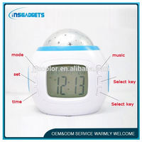 digital canvas clock ,HL-896 classic lcd table clock , wooden led digital alarm clock