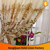 Home decorating living room furniture new flower european design burnout jacquard window curtain-E