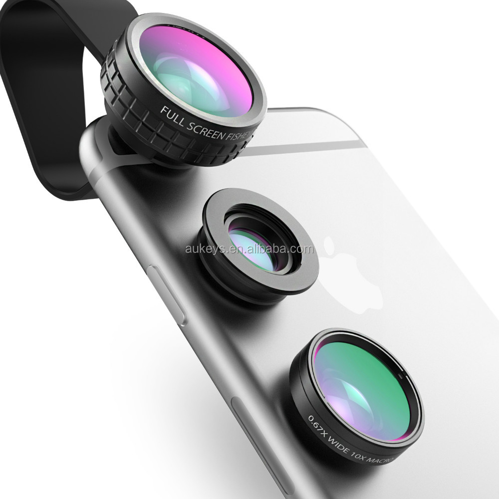 AUKEY PL-A1 Mobile Phone Camera Lens Fisheye, Wide Angle and Macro Lens