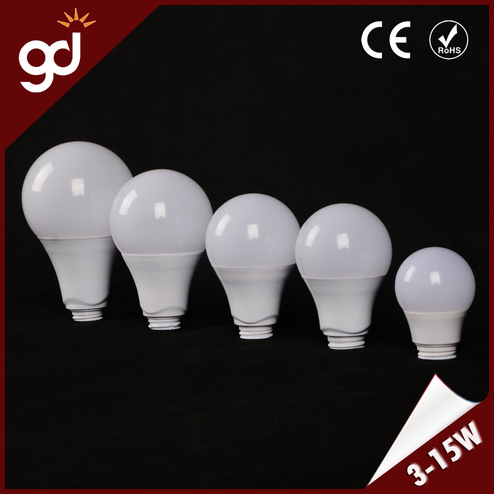 color optional easy-assembling milky plastic and aluminum led bulb parts
