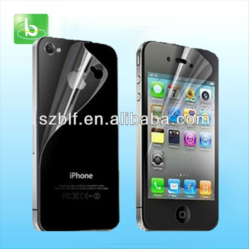 Best selling for iphone 4s anti scratch screen protector