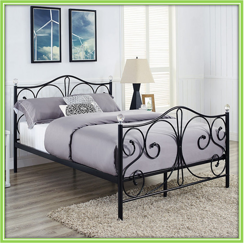 Good quality simple metal bed single bed sleeping bed for Good quality single beds