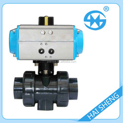 UPVC Pneumatic Ball Valve Pneumatic plastic ball supplier china