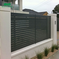 black aluminum pool picket fence