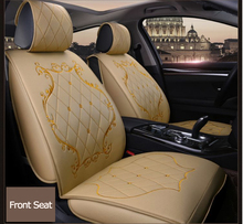 Universal Beige Color Leather Cow Print Car Seat Cover For Dubai