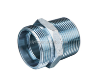 Hydraulic adaptor metric thread S series bite type/ BSPT male pipe fittings